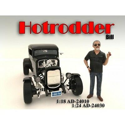 NEW FIGURINES - Hotrodder - BILL  - 1/18 scale figure - AMERICAN DIORAMA