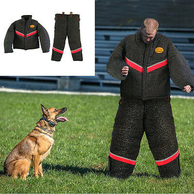Black Full Body Protection Dog Bite Suit Police Dog Training Clothes Supplier