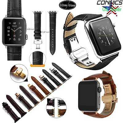 For New iWatch Apple Watch Series 4 44mm Genuine Leather Band Strap Replacement
