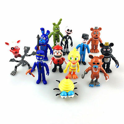 12PCS/set Doll Five Nights at Freddy's FNAF Game Action Figures PVC Toy Souvenir