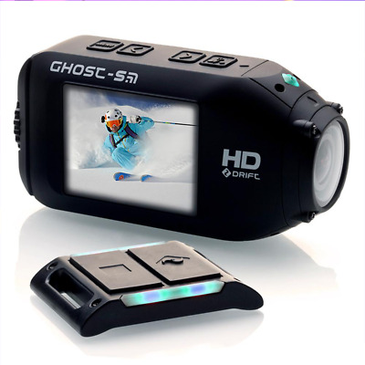 Drift HD Ghost S 1080P Action Dash Cam Camera Camcorder w/Remote & Accessories