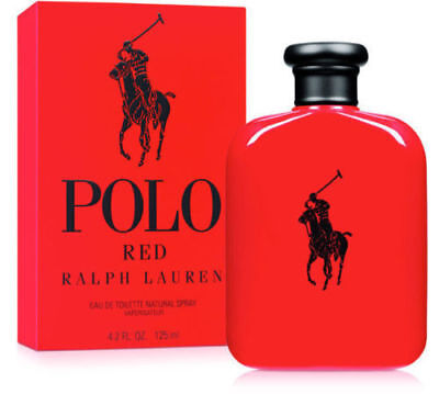 POLO RED BY RALPH LAUREN 4.2oz 125ml Cologne Spray Men's *New*