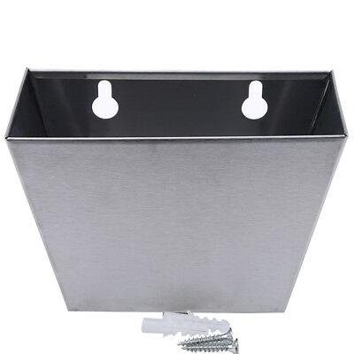 Stainless Steel  Storage Box Wall Mount Bar Beer Bottle Opener Cap Catcher DM