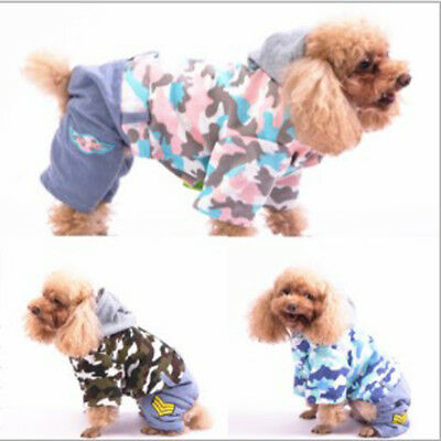 Dog Pet  Clothes Padded Coat Camouflage  cowboy Warmer Winter Hooded Jacket