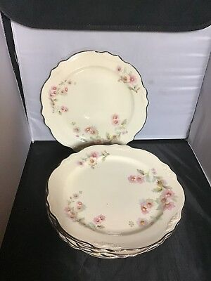 Homer Laughlin Virginia Rose JJ59 Luncheon Plates 8 Available No Chips Or Cracks