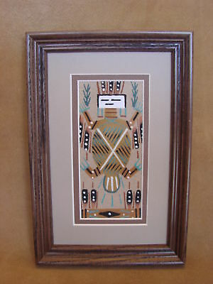 Native American Indian Authentic Navajo Sandpainting by Deanna Begay SP006
