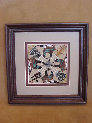 Native American Indian Authentic Navajo Sandpainting by Marlene Dobey SP008