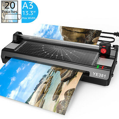 """New 13.3"""" Laminator Machine A3 A4 A6 Thermal Laminating Machine for Home Office"""