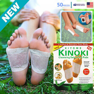 50Pcs Foot Pads Cleansing KINOKI Detox Patch Pain Relief Soothing Herbal