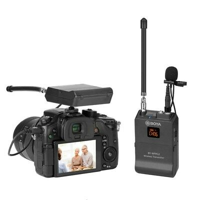 BOYA BY-WFM12 VHF Wireless 12 Channel Lavalier Microphone For Camera Camcorder