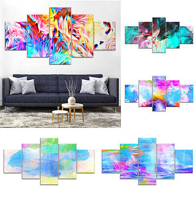Modern Abstract Canvas Print Painting Framed Home Decor Wall Art cc Poster 5Pcs