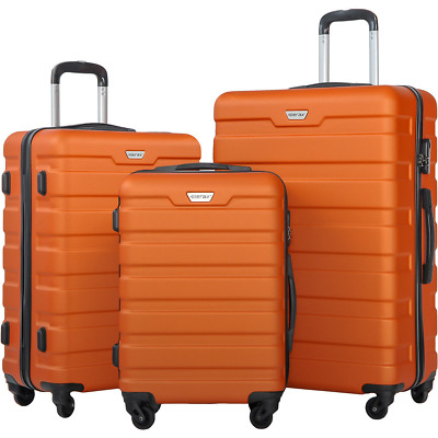 NEW! Merax New 3 Piece Luggage Set Lightweight Spinner Suitcase Students Travels