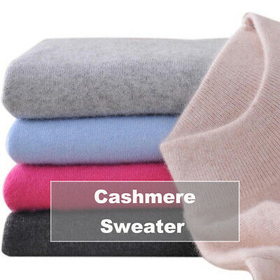 Women Cashmere Blended Sweater Autumn Winter Warm Slim Knitted Pullover New JC