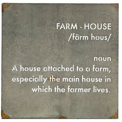 Farmhouse Definition Wall Art~house~farmer~galvanized~metal sign~punched letters