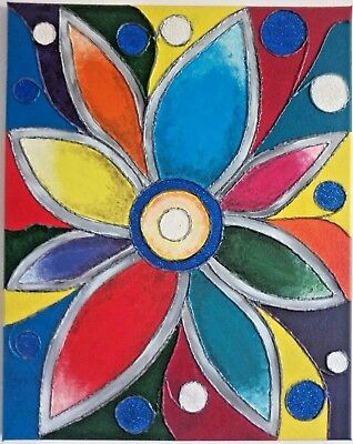Abstract Acrylic Painting Canvas Wall Art Picture Home Decor  - Flower