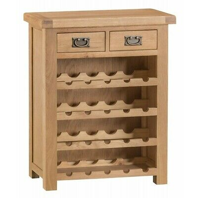 Colchester Rustic Oak Furniture Small Wine Rack Cabinet 20 Bottle Storage Unit