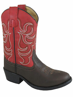 5f8d596e4a6 SMOKY CHILDREN'S KID'S Blaze Brown and Red Western Cowboy Boot ...