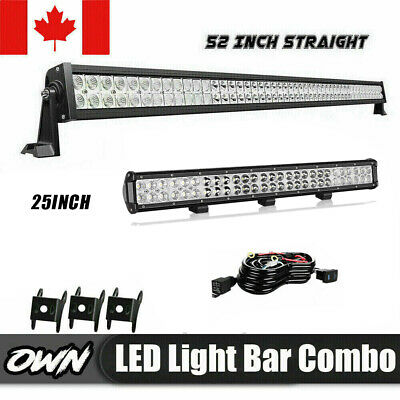 52'' 700W+22 inch LED Work Light Bar Combo Beam Off Road Truck Boat SUV 4X4 Jeep
