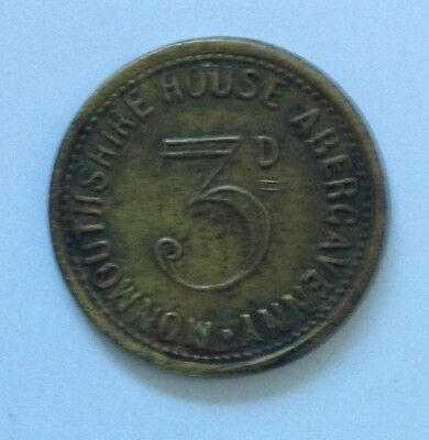 Abergavenny, Monmouthshire House 3d Pub Token, Monmouthshire