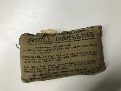 Usgi Wwii Shell Dressing Kit 1941 Dated In Original Packaging