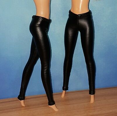 Handmade Barbie Doll Leather Look Leggings 04 Clothes For Barbie (No Doll)