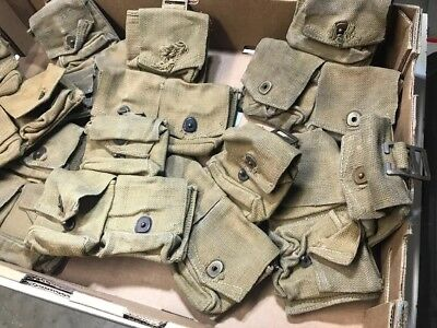 "British Enfield303 3 Pocket Ammo Pouch ""Damaged"""