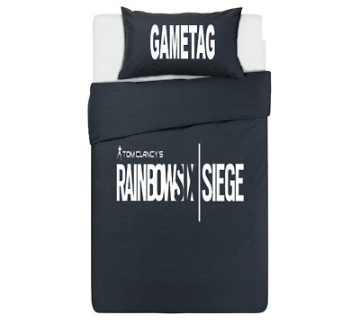 Rainbow Six Siege Personalised Black Duvet cover/Bedding Set PS4/XBox one gaming