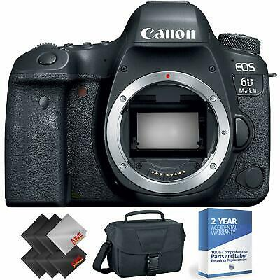 Canon EOS 6D Mark II DSLR Camera (Body Only) + 2 Year Accidental Warranty