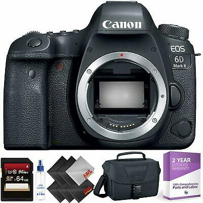 Canon EOS 6D Mark II DSLR Camera Body Only + 64GB Memory Card + 1 Year Warranty