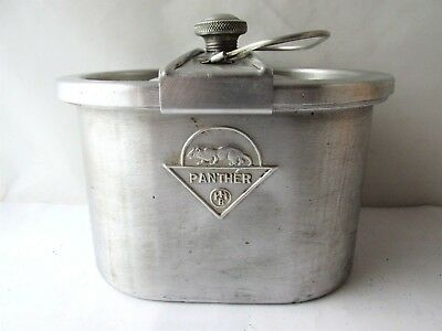 "WWII WW2 Vintage GERMAN ""PANTHER"" ALUMINUM FOOD CONTAINER MS3"