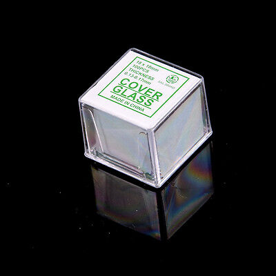 100 pcs Glass Micro Cover Slips 18x18mm - Microscope Slide Covers HGUK