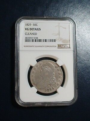 1829 Capped Bust Half Dollar NGC VG SILVER 50C Coin PRICED TO SELL NOW!