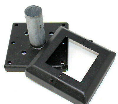 """BASE PLATE & COVER FOR WOODEN FENCE POST - TO SUIT 3"""" x 3.75"""" (75 - 96mm)"""