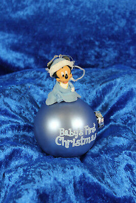 Disney Weihnachtsbaumkugel - Baby's First Christmas - Baby Micky - Junge