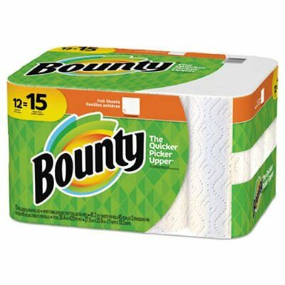 Bounty Kitchen 2-Ply Paper Towel Rolls, 45 Sheets/Roll, 12 Rolls/CT (PGC74697)