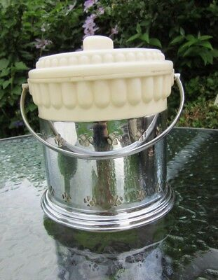Silver Plated Pierced Ice Bucket with Plastic liner Made in England