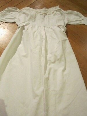 Vintage Victorian Antique Child's Christening Gown Dress Dolls 5