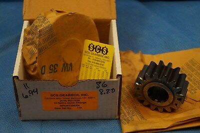 Scs Gearbox 10 Spline Sportsman Quick Change Gears Set 33K  6.94-8.20