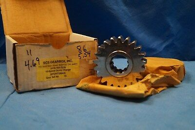 Scs Gearbox 10 Spline Sportsman Quick Change Gears Set 7k   4.69-5.54