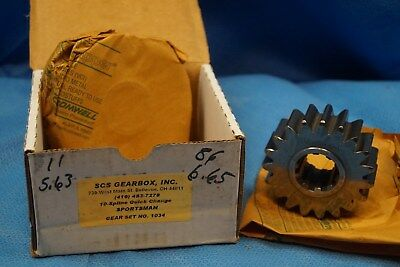 Scs Gearbox 10 Spline Sportsman Quick Change Gears Set 1034  5.63-6.65