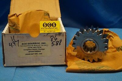 Scs Gearbox 10 Spline Sportsman Quick Change Gears Set 109  4.97-5.88