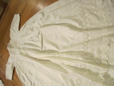 Vintage Victorian Antique Palatine Child's Christening Gown Dress Dolls 8