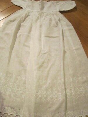 Vintage Victorian Antique Child's Christening Gown Dress Dolls 10
