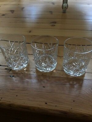 Bohemia Crystal Set Of 3x Whiskey Tumblers
