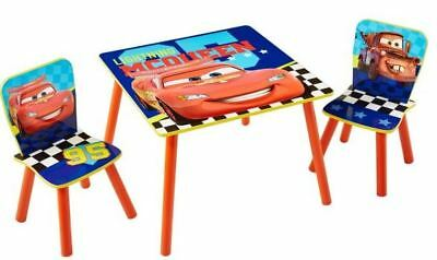 Worlds Apart Disney Cars 3 Table & Chairs, Kids Activity Desk & 2 Chairs