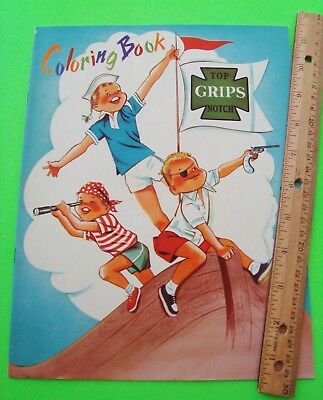 ca 1960 GRIPS SNEAKERS UNUSED COLORING BOOK Beacon Falls CT 24-pgs Nr-MINT