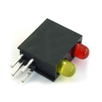 4x L-934MD/1I1GD Diode LED in housing No.of diodes2 3mm THT red/green