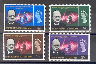 British Antarctic Territory Sg 16-19 1966 Curchill Set Mnh