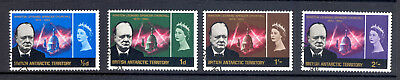 British Antarctic Territory Sg 16-19 1966 Curchill Set Fine Used