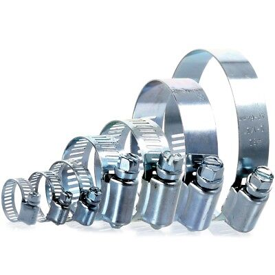 10 x HOSE CLIPS Small - Large Adjustable Worm Drive Filter Pump Pipe Seal Clamp